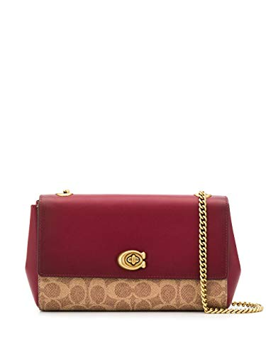 Coach Cam Chain Ladies Small Two Tone Bolso cruzado de cuero 79592 B4PEQ