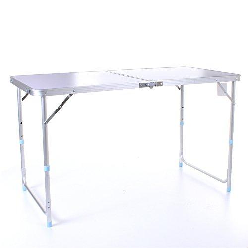 Marko Outdoor 4FT Adjustable Aluminium Folding Portable Camping Table Party BBQ Parasol Hole