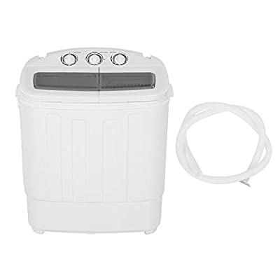 Mini Portable Pulsator Washing Machine, 2 In 1 Washing & Spin Drying Washer, 220V Universal UK Standard Twin Tub Washing Machine, Compact Washer with Spin-Dryer for Clothes Socks Underwear Towels Etc