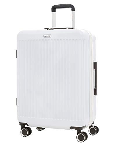 imome Fresh Maleta Mediana Blanca Cierre de Combinación 67x47x27/30 cm Expandible | Trolley de Viaje Ultra Ligera| Maleta de Viaje Rígida 100% ABS Reforzado, Antiarañazos