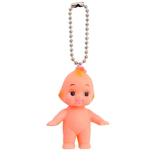 Japan Kewpie Baby Doll Ball Key Chain Necklace Pendant Charm Key-Ring Cupid Rubber Butterfly Hair Pin Girl Figure (Doll Key Chain)