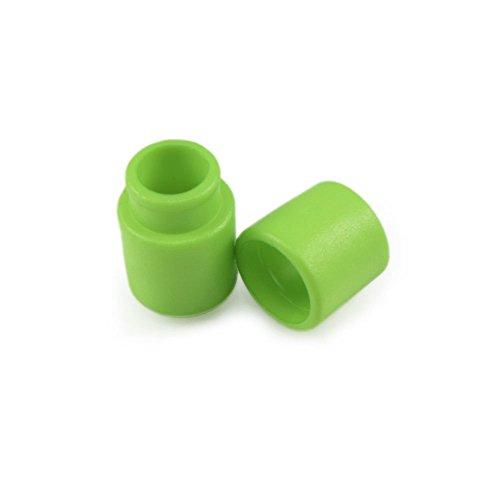 Ganzoo 10er Set Verbinder/Kordelverbinder,rund, zum verknüpfen von Paracord 550, aus Kunststoff für Paracord Armbänder, Kordeln etc, 2-teilig, Farbe: hell grün - Marke