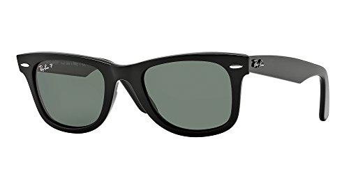 Ray Ban RB2140 WAYFARER 901/58 50M Black/Green Polarized Sunglasses For Men For Women