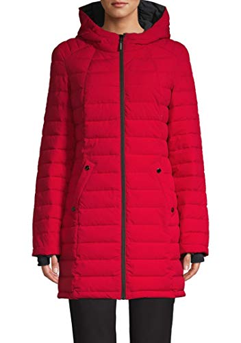HFX Halifax Scuba Stretch Active Hooded Puffer Coat (Red/Charcoal, Medium)