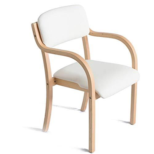 ZCXBHD Retro Style Design Barkrukken, Massief houten stoel met rugleuning en armleuning, barstoel met rugleuningen, als bureaustoel gevoerde keuken eetstoel Ontbijt Kruk