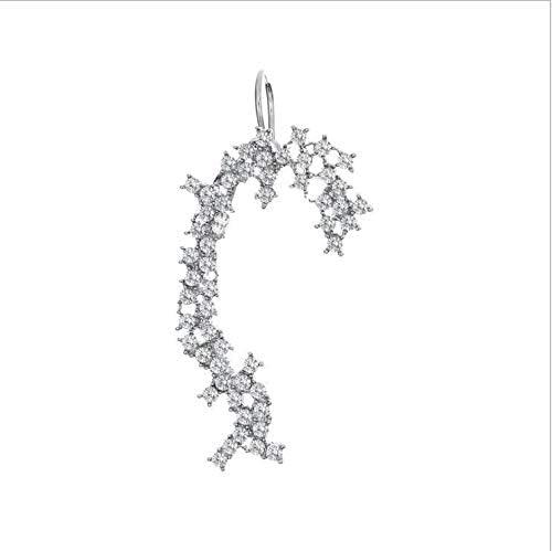 weichuang Bohemian Water Drop Crystal Rhinestone Ear Cuff Wrap Stud Clip Earrings for Women Girl Butterfly Earring Jewelry Bijoux (Metal Color : Gold Color)