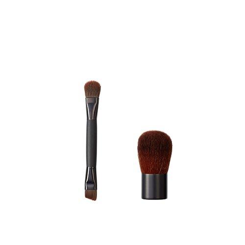 Vegan Love - Gioco e 2 facciale pennello pennelli (eyeliner e spazzole, di piccola dimensione)