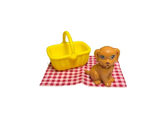 Barbie Camping Fun Accessory Pack Puppy Picnic 4 Pieces