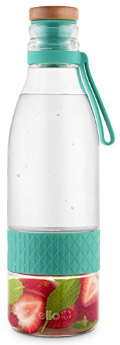 Ello Zest Glass Water Infuser with Leak-Proof Lid, 20 oz, Mint