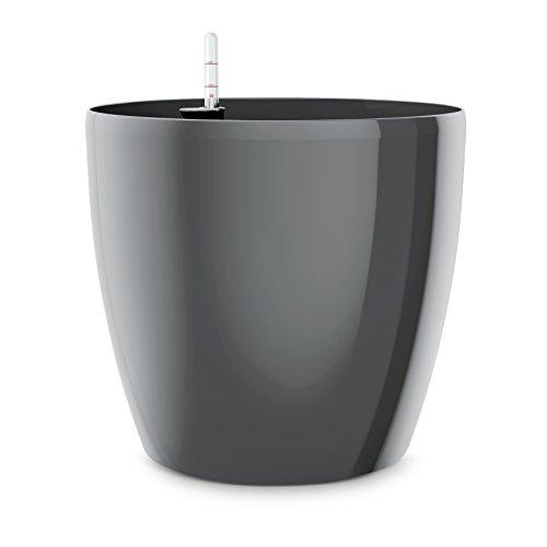 Emsa Blumenkübel für den Innenbereich, Selbstbewässerungssystem, Ø 25 cm, Granit, Casa Brilliant, 517564