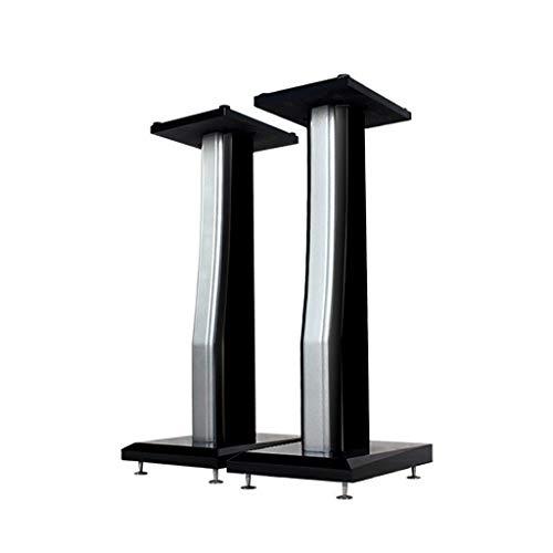 Houten luidsprekerstandaard, 23-inch staande luidspreker met surround-sound-thuisbioscoop, inclusief veervoeten, zwart, paar