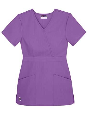 Sivvan Women's Scrubs Mock Wrap Top - S8302 - Lavender - M