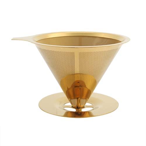 Powolny filtr do kawy, kroplownik do kawy ze stali nierdzewnej Tytanowe złoto do podróży na drogi ekspres do kawy do filtrowania kawy