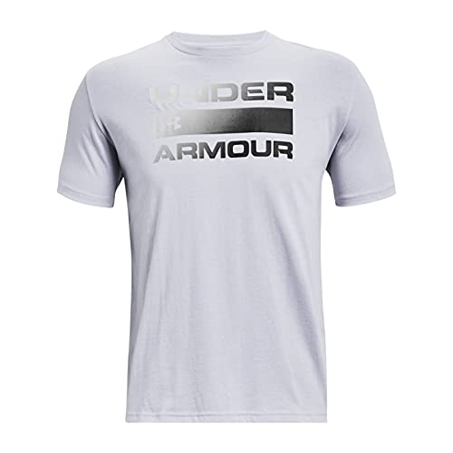 Under Armour UA Team Issue Wordmark, Camiseta Hombre, Mod Gray/Black, XS