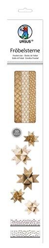 Ursus 34830000 - Fröbelsterne Kraftpapier, gold/braun/weiß