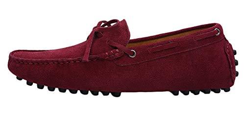 SK Studio Hombres Zapatos de Conducción Mocasines Calzado Casuales Zapatos de Barco Plano Multi3 MarróN 39 EU