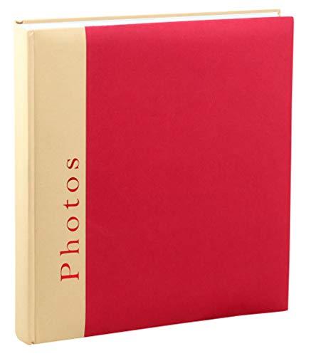 Chapter Fotoalbum in 30x30 cm 100 Seiten Foto Album Buchalbum Jumbo: Farbe: Rot
