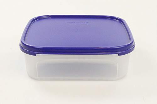 TUPPERWARE Eidgenosse 1,2 L blau Quadratisch Kompaktbehälter Vorrat Modular