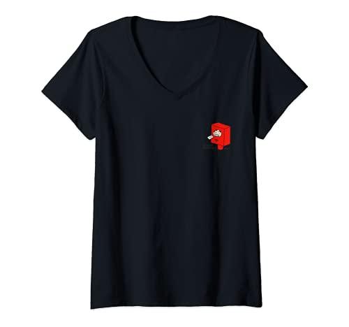 Mujer Crayon Shin-chan ¡Transfórmate en una publicación! un punto Camiseta Cuello V