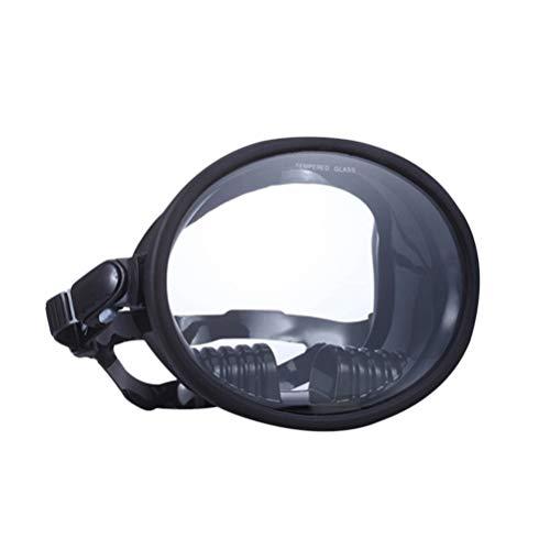 BESPORTBLE Maschera da Sub a Lente Singola con Cinturino per Immersioni Subacquee Snorkeling E Apnea (Nero)