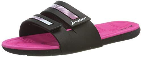 Rider Damen Prana II FEM Pantoletten, Mehrfarbig (Black Pink 8341), 39 EU