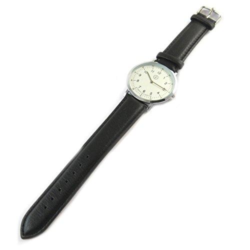 Trendy [N9500] - Designer-Uhr 'Trendy' Silber schwarz (schmal).
