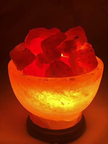 Salz Feuerschale Steinsalz -Salzkorb lampe Kristallsalz aus dem Vorgebirge des Himalaya* Direkt anbieter von Pakistan ink Birne und Klemmenfassung