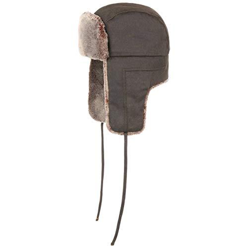Stetson Old Cotton Fliegermütze - Wasserabweisende Pilotenmütze - Chapka Herren/Damen - Mütze Herbst/Winter - Wintermütze braun L (58-59 cm)