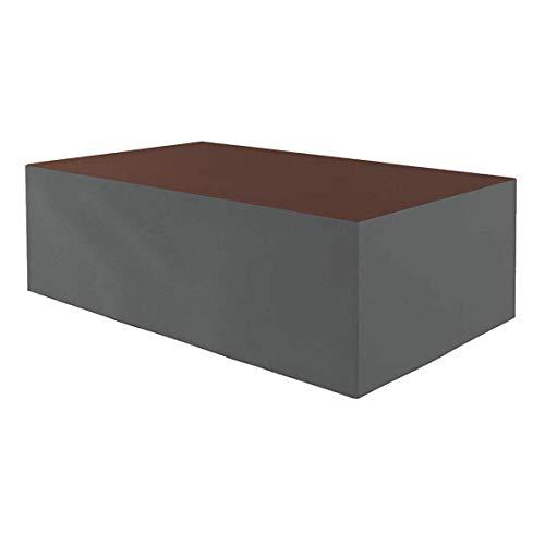 Planesium Premium - Funda protectora para mesa de jardín (575 g/lfm, 170 x 100 x 70 cm), color marrón y gris