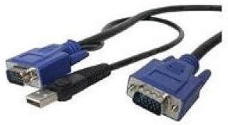 StarTech CONNECT VGA VIDEO AND USB USING A SINGLE THIN KVM CABLE - KVM CABLE - USB KVM CA