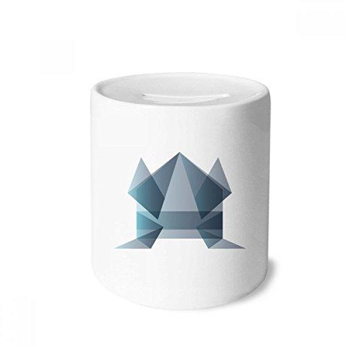 DIYthinker Rana Origami Abstracto Forma geométrica Caja de Dinero de Las Cajas de ahorros de cerámica Adultos Moneda de la Caja para niños