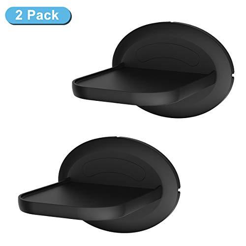 Cozycase Liten vägghylla för Ech0 4th, Sonos, HomePod Mini, hållare för säkerhetskameror – en platsbesparande lösning för allt upp till 6,8 kg – flytande hylla svart