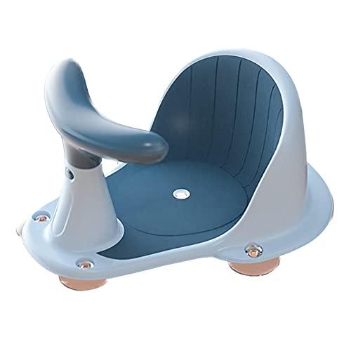 Hengjierun Asiento de baño para bebé, Silla Antideslizante para bañera con 5 ventosas, Respaldo y ventosas para Estabilidad Asiento de Ducha para recién Nacidos Durante 6 a 18 Meses