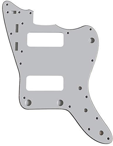 Partes de guitarra para Fender Japan Jazzmaster P90 Golpeador de guitarra, 3 capas de color blanco.