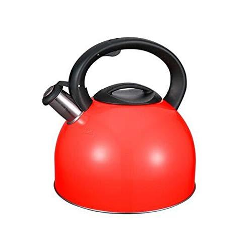 YMSH Wasserkocher 304 Edelstahl Wasserkocher 4L Sänger Gas Induktionsherd Universal Wasserkocher (Color : Red, Size : 4L)