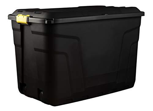 Original Organics Heavy Duty XL Storage Box Trunk on Wheels 190L, Great for Indoor & Outdoor Storage