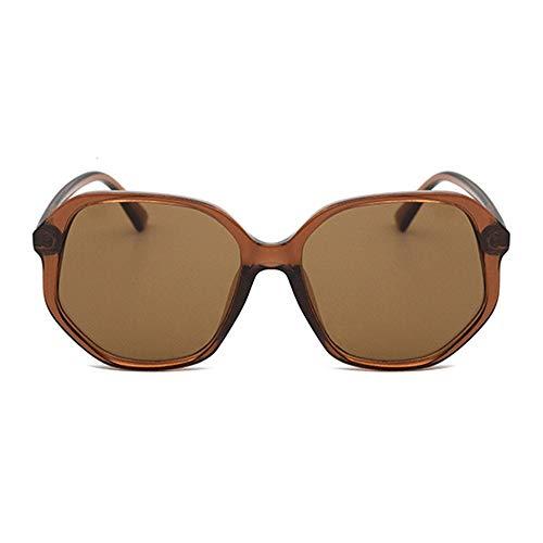 SWNN Gafas de sol Europa y Estados Unidos Moda Irregular Gran Frontera Gafas de sol Color Exterior Conducción UV400 Unisex (Color: Marrón)