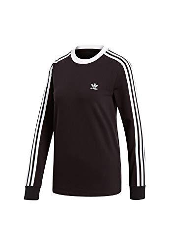 adidas 3 STR Ls T-Shirt à Manches Longues Femme Black FR : L (Taille Fabricant : 48)
