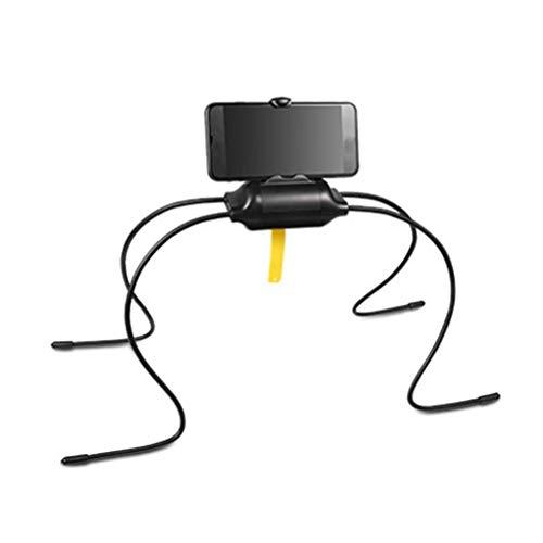 Soporte para teléfono móvil Soporte para teléfono móvil Soporte para teléfono Soporte para teléfono flexible Soporte para tableta Multifuncional Teléfono Celular Rack Forma de araña Negro