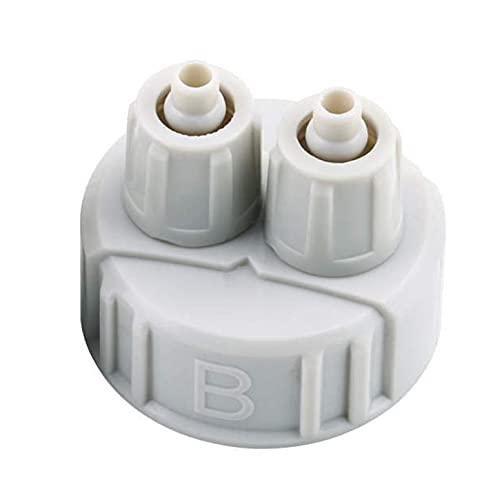 Kit de Sistema DIY ABS CO2 Parte del generador Tapa de Botella con Tubos para Acuario plantado Interfaz B Peso Ligero portátil - Gris Claro