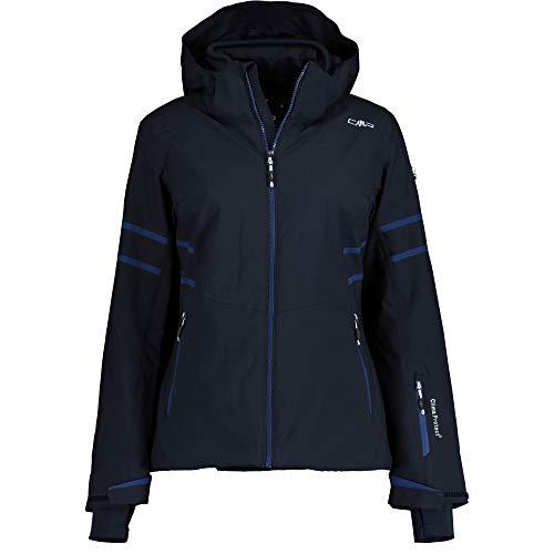 CMP Damen Wattierte PFC Free 10000 Skijacke Jacke, Black Blue, 38