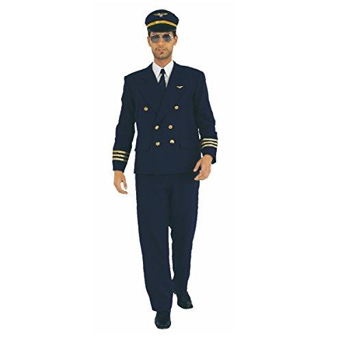 Unbekannt Kostüm Pilot, Fliegeruniform, Fasching, Pilotenkostüm (XX-Large)