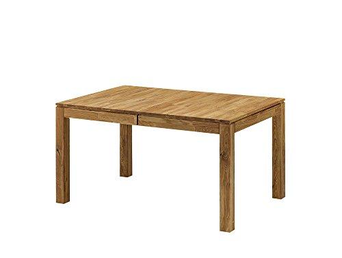 moebel-eins LISSABON Esstisch/Ausziehtisch Holztisch Massivholztisch Esszimmertisch Tisch geölt, Wildeiche, 120/170x80 cm