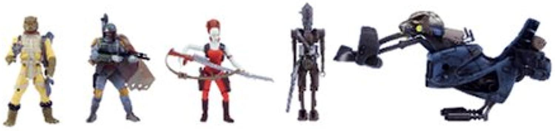Star Wars Saga Ultimate Bounty 4Figure and Swoop Bike Giftset (Boba Fett, Bossk, IG88 and Aurra Sing)