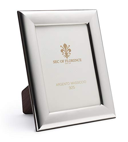 SEC OF FLORENCE Solid 925 Sterlingsilber-Fotorahmen 7187/10 x 15 cm – 3,9 x 5,9 Zoll