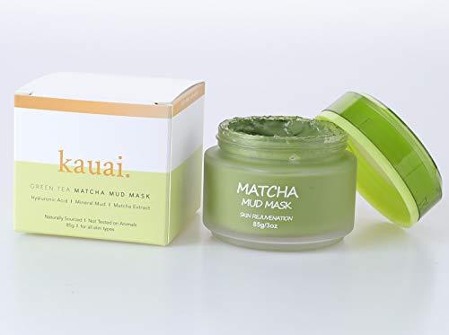 Mascara de te verde Matcha natural de barro para rejuvenecer la piel con efectos antienvejecimiento. Limpiador de la piel para el acne. Crema facial para reducir los poros, lineas finas y arrugas