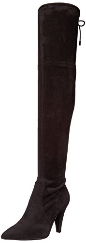 GUESS Women's Norris Over The Over The Knee Boot, Black, 9 M US