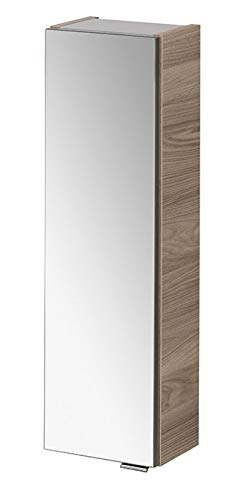 FACKELMANN Hängeschrank Luxor mit Spiegel/Badschrank mit Soft-Close-System/Maße (B x H x T): ca. 20 x 68 x 16 cm/Schrank fürs Bad mit 1 Spiegeltür/Türanschlag Links/Korpus: Braun hell