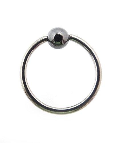 Piercing-dreams tKKR3/piercing anneau avec fermoir boule en titane 1,6 x 8 mm 23 g de diamètre, par exemple pour téton : lèvres, le septum, etc.