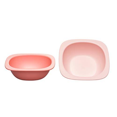 nip Eat Green öko bio Breischale: Ohne Melamin und BPA, Spülmaschinenfest, geeignet für die Mikrowelle, 2 Stück, orange